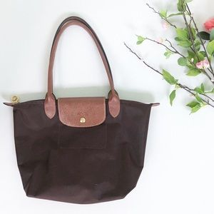 Longchamp Le Pliage Small Brown Shopping Tote